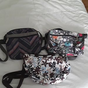 Lot of Lesportsac used purses